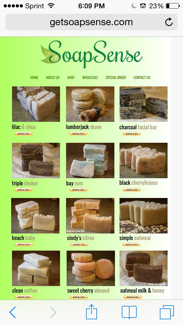 Visit our website to purchase your homemade All Natural Soaps! http://www.getsoapsense.com/shop.html