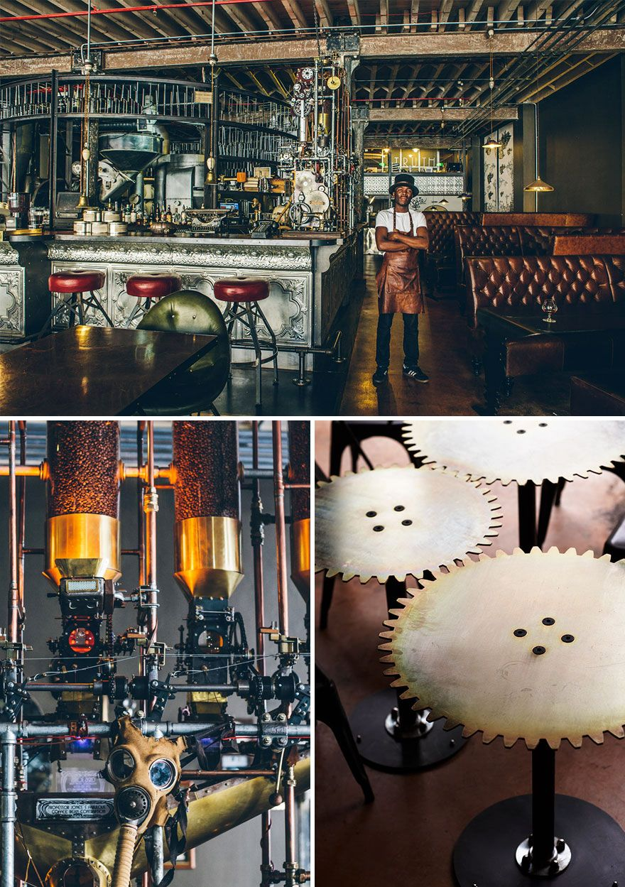 Impressive Steampunk Design, Truth Coffee, Cape Town, South Africa
