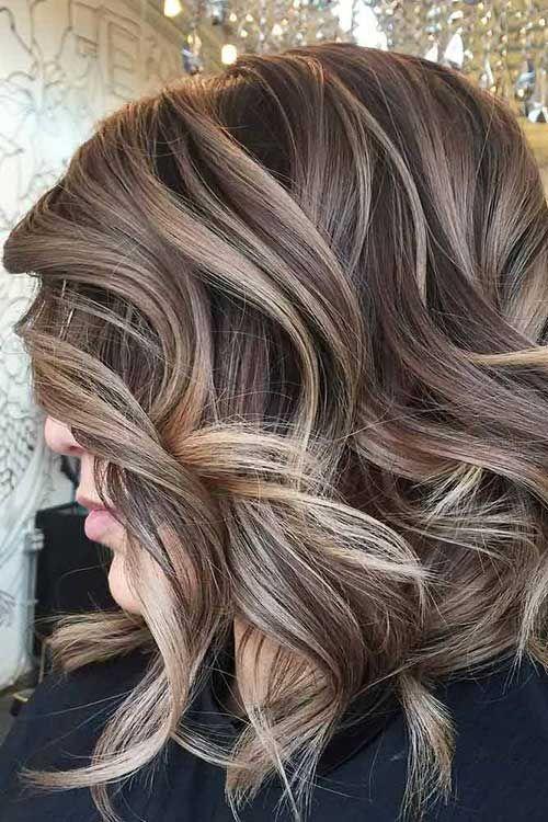 Braune Haare Mit Blonden Highlights Haarfarben Lockige