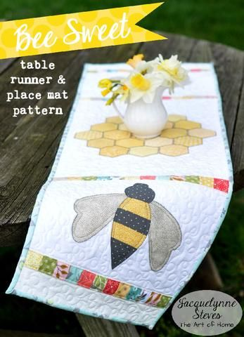 Bee Sweet Table Runner and Placemat Pattern- Digital | table runners ...