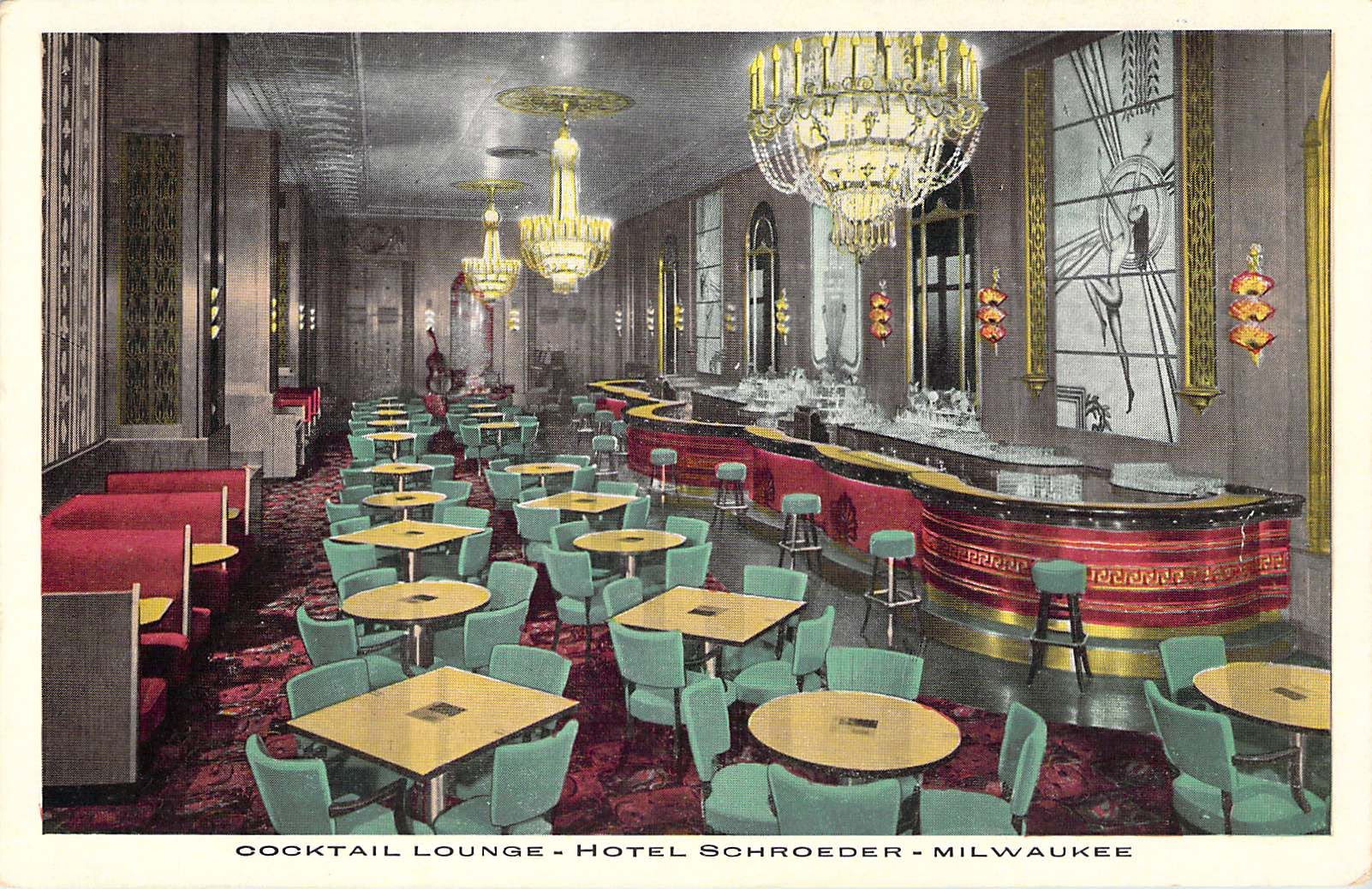 Cocktail Lounge Hotel Schroeder  Milwaukee, WI
