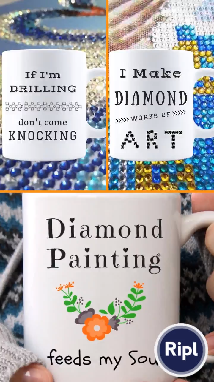 For Diamond Painting Lovers      #dpaddiction #diamondpainting  #diamondpaintingmugs #5ddiamondpainting #diamondpaintingdiy #diamondpaintinglovers #paintwithdiamonds #paintbydiamonds #3ddiamondpainting