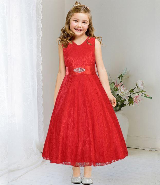 aaacfe2a68ee9 Red Dress For Teen Girls Embroidered Flower Girls Dresses | Girls ...