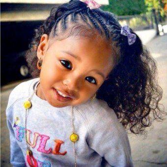 coiffure afro enfant les couettes aux racines tress233es