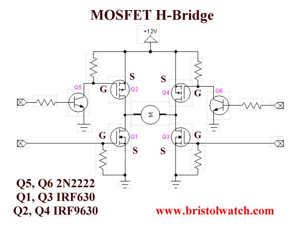 power mosfet h bridge basic circuit pinterest circuits rh pinterest com