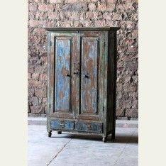 Akash 'Sky Blue' Upcycled 2 Drawer 2 Door Dresser 995.00