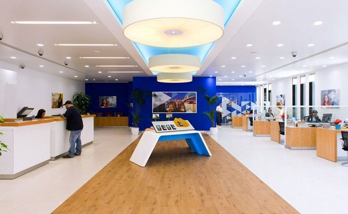 Contemporary bank tellers retail bank design bank of for Office design hamra