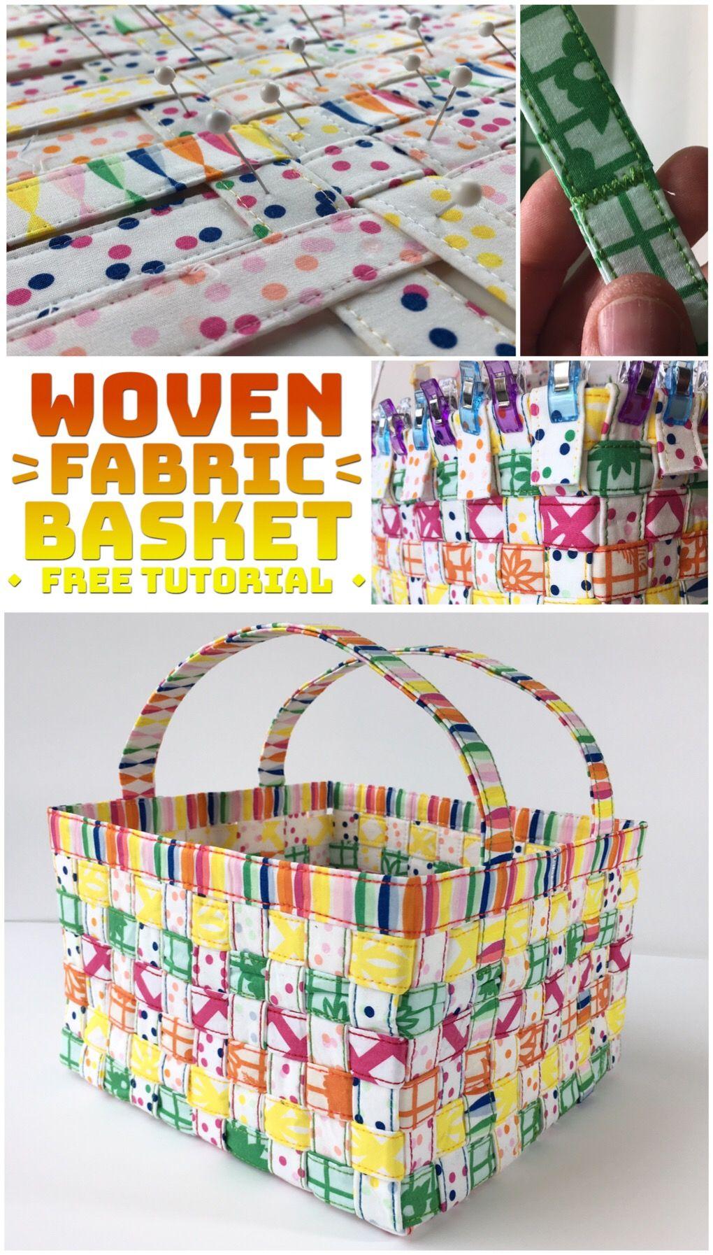 Woven Fabric Basket Tutorial | Ostern, Handarbeiten und Nähen