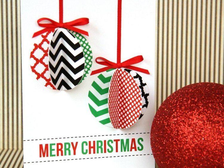 carte de noel originale Carte de Noël à fabriquer soi même – 30 idées et instructions