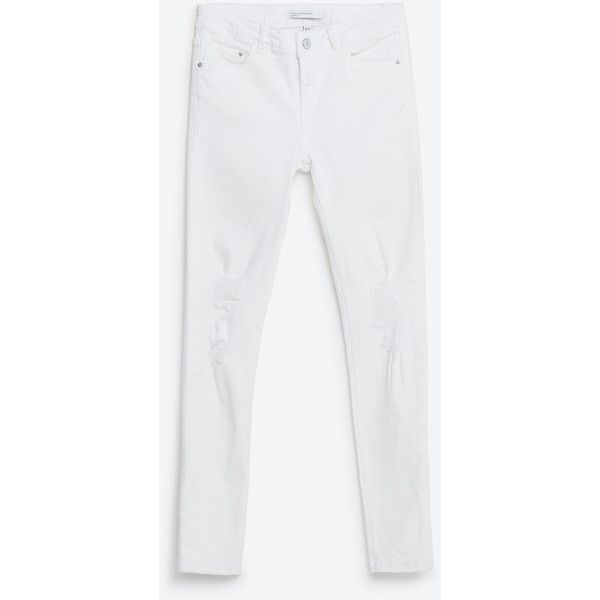 WHITE JEANS (745 MXN) ❤ liked on Polyvore featuring jeans and white jeans