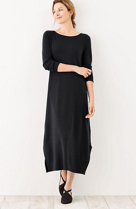 9c2e9ad186e J. Jill Pure Jill Luxe Tencel® Dipped-Hem Dress