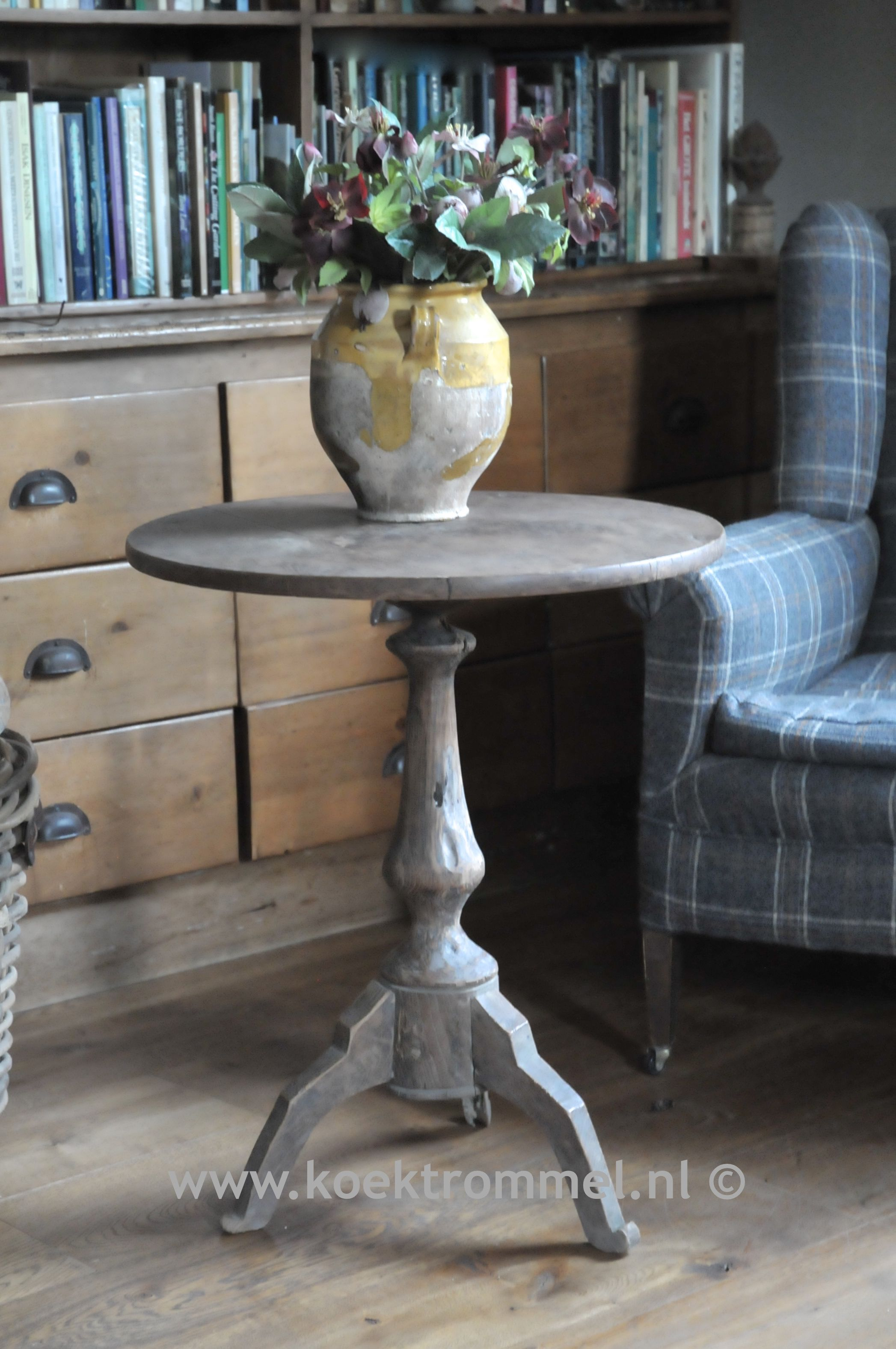 Oude wijntafel landelijke tafels pinterest woonidee n landelijk wonen en thuis - Rustieke eetkamer decoratie ...