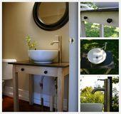 Photo of Antiker gedrehter Tisch Vanity {Badezimmer Redesign Update} #kitchengarden #gard…