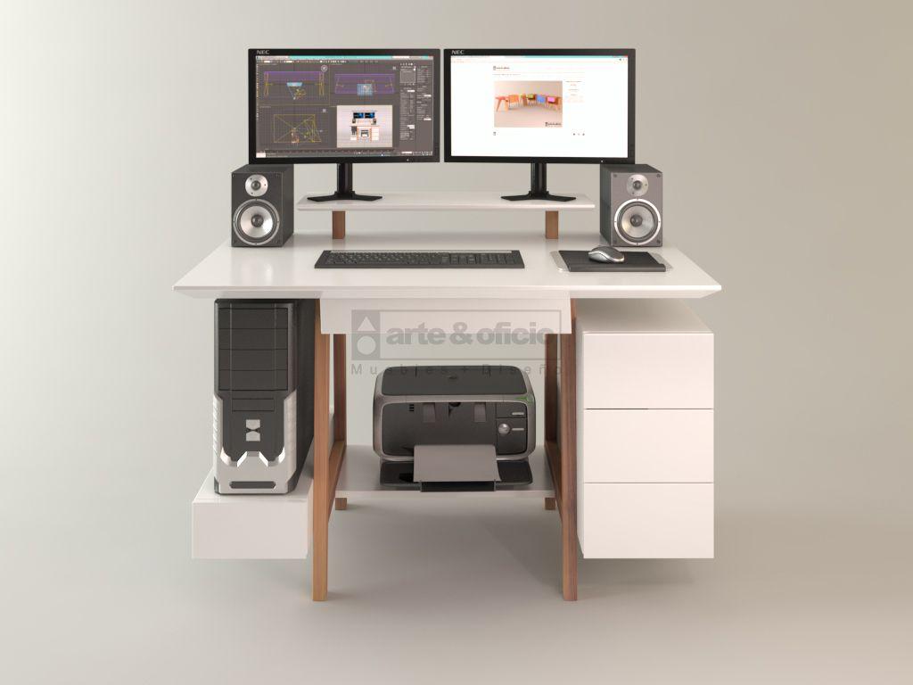 Escritorio workspace calden vista frente con for Escritorio ergonomico caracteristicas