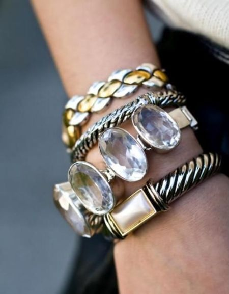 pearl bangles, , Neutral stack bracelets http://www.justtrendygirls.com/neutral-stack-bracelets/