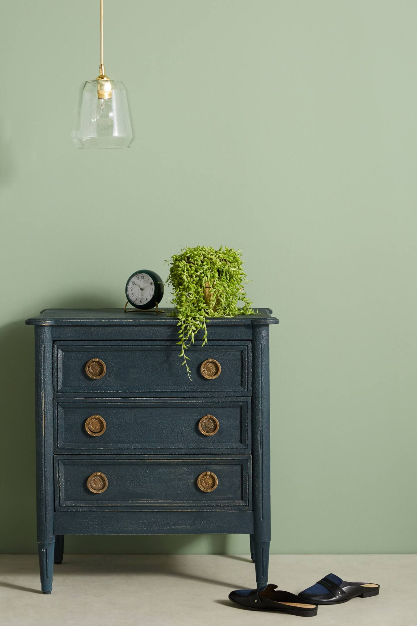 Washed Wood Nightstand Wood nightstand Nightstands and Woods