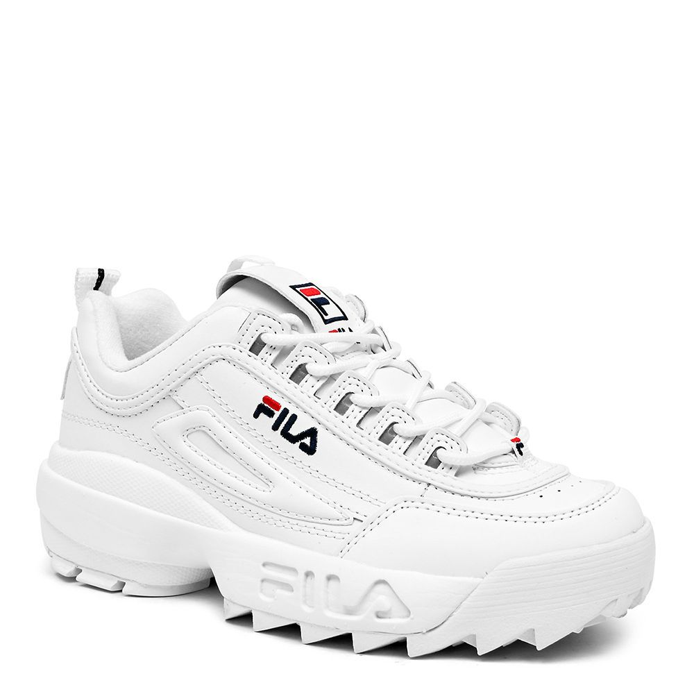 Details about FILA DISRUPTOR II White White Red FW01655 ...