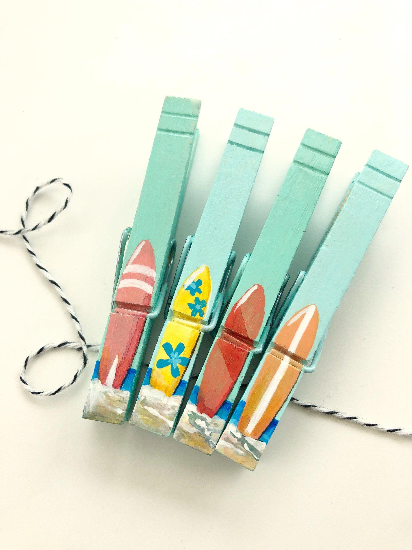 Beachy Fun Locker Magnets Clothespin Magnets