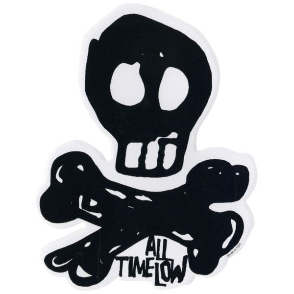 All time low skull sticker hot topic 2 99 ❤ liked on polyvore featuring home home decor office accessories filler extra pics logo stickers and