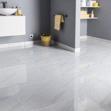 Carrelage Sol Et Mur Blanc Effet Marbre Samos L 45 X L 45 Cm