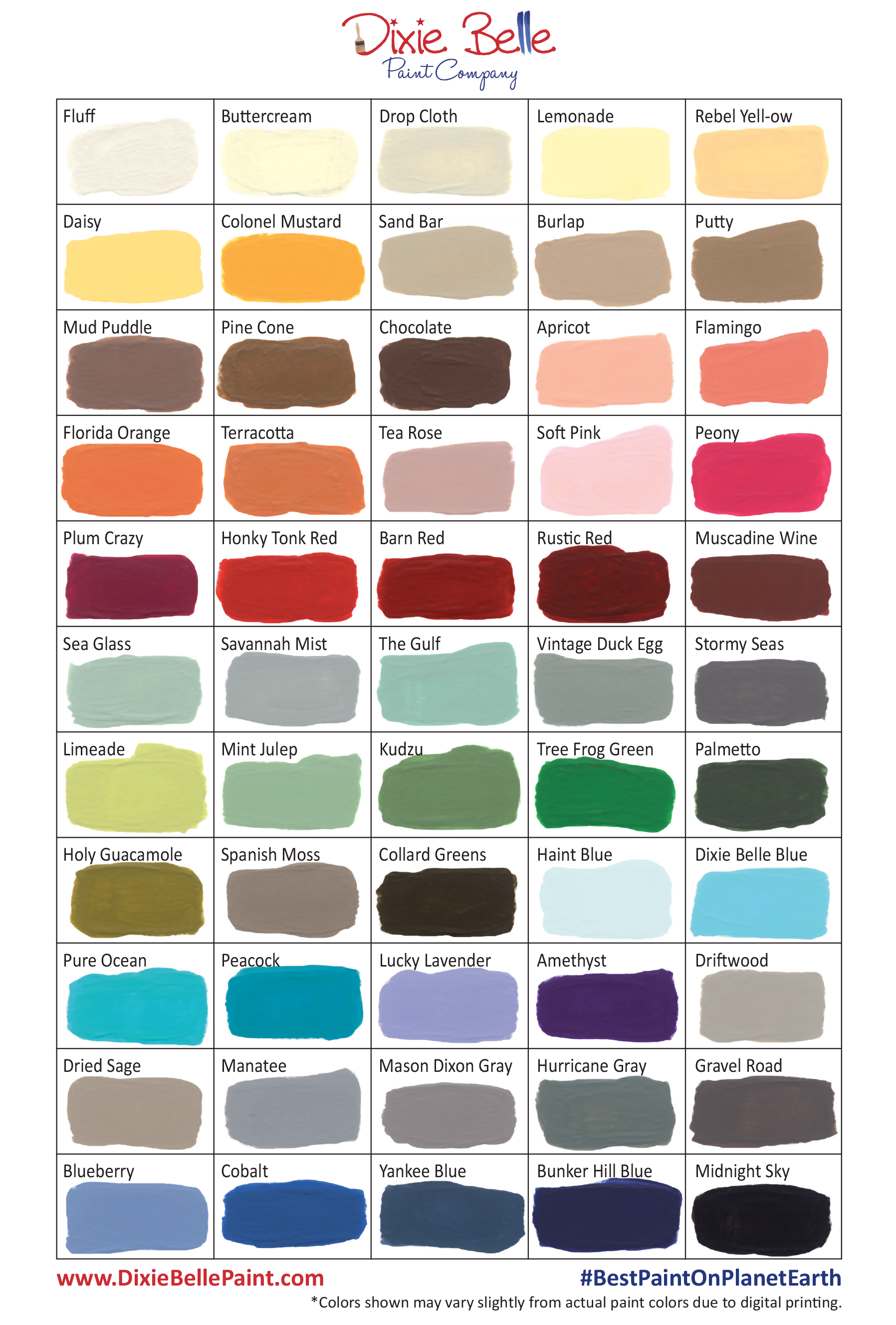 Dixie Belle Paint Company Now Has 55 Awesome Chalk Mineral Colors To Choose From Not Mention All The You Could Make If Mixed Them Too