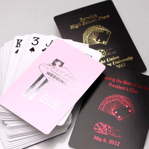 personalized playing card favors  personalized playing