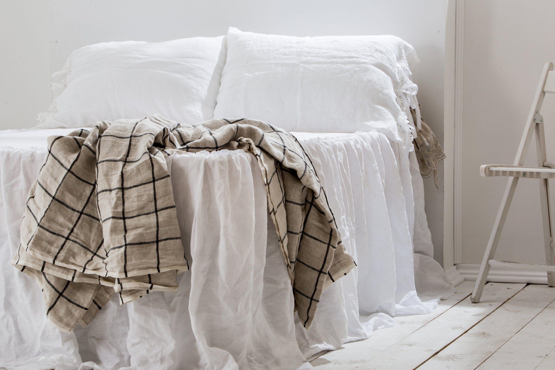 Linen Blanket Linen Bedspread Natural Linen Blanket In King Etsy In 2020 Bed Linens Luxury Bed Spreads Coverlet Bedding
