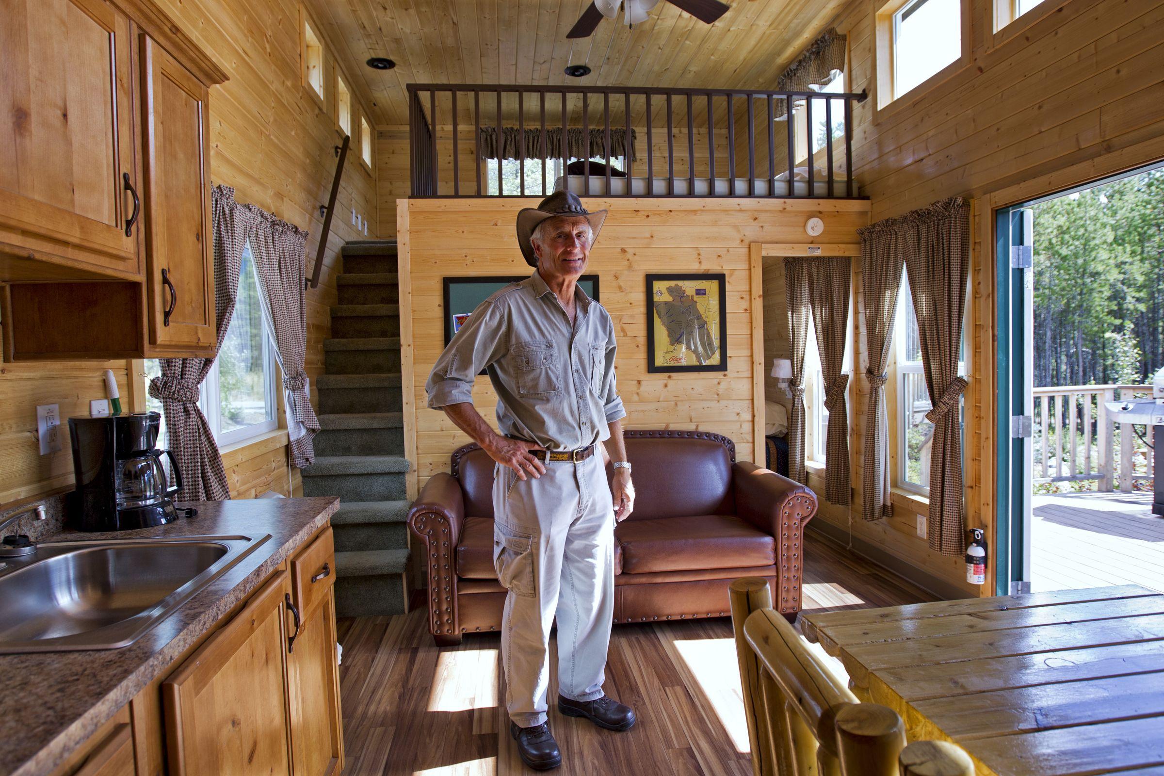 Lofted Barn Cabin Interiors Stairs