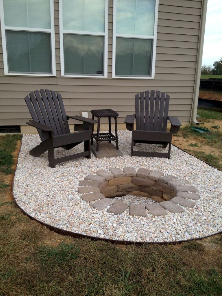 75 easy and cheap fire pit and backyard landscaping ideas - Small backyard fire pit ideas ...