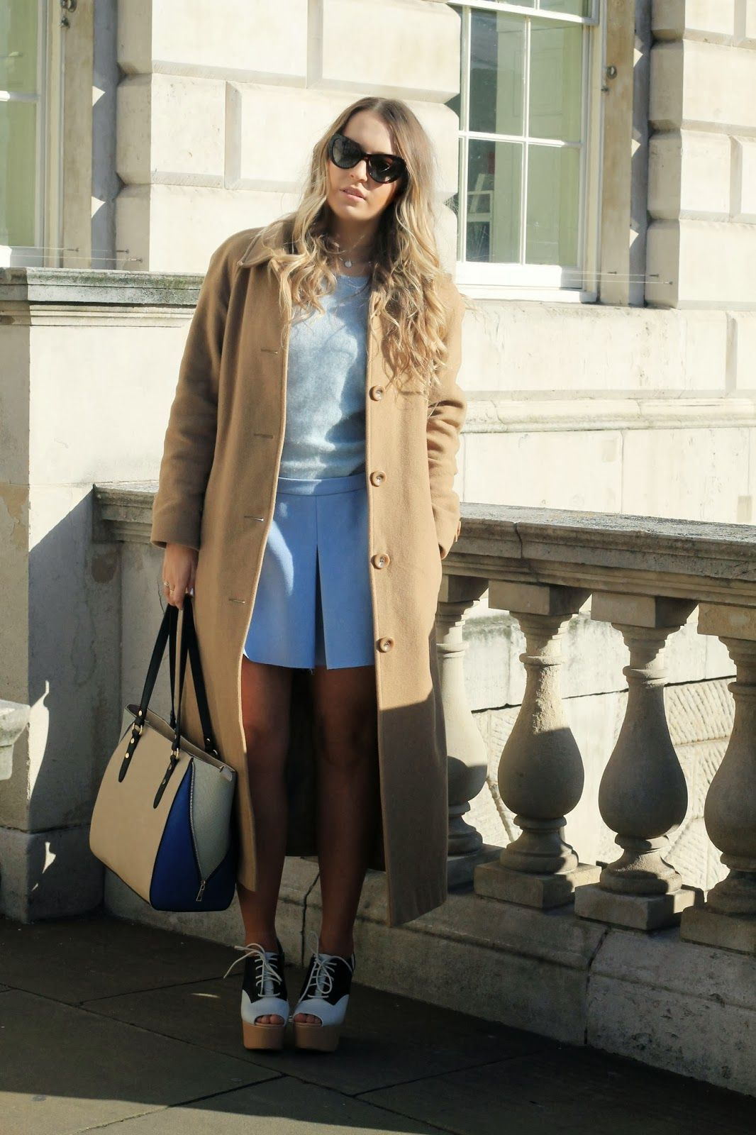 The Style Confessional wearing our Wool Camel Coat. Read the blog: http://www.styleconfessional.com/2014/02/lfw-aw14-day-3.html