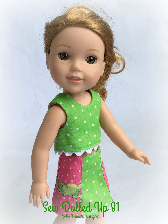 Feelin\' Froggy Summer Wardrobe for WellieWisher sized dolls by ...