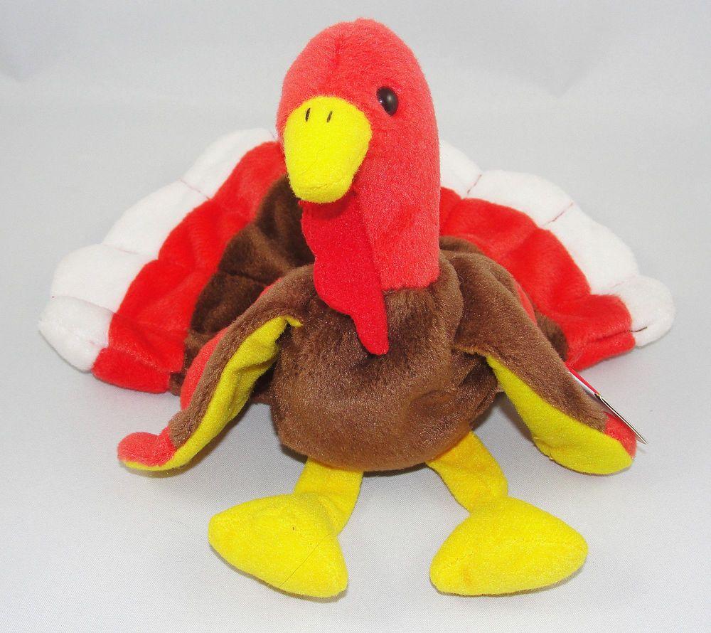 16b9a854061 Ty Beanie Babies GOBBLES Turkey Thanksgiving Plush Retired 1996 NWT  Ty  Beanie Babies
