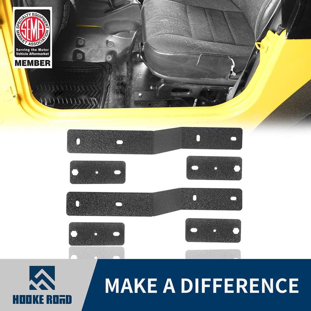Hooke Road Seat Adapter Brackets Kit For Jeep Wrangler Tj 97 06