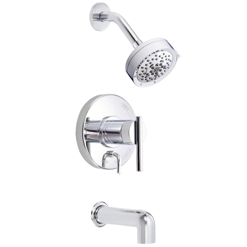 Danze Parma 1 Handle Pressure Balance Tub And Shower Faucet Trim