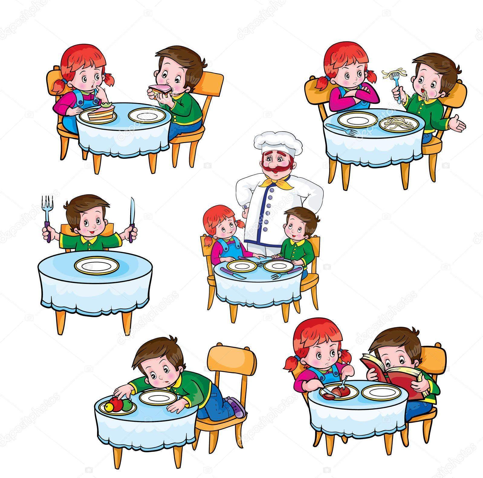 Этикет за столом для детей в картинках (35 ФОТО ...