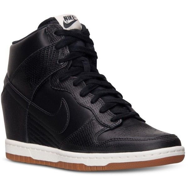 Nike Women's Dunk Sky Hi Casual Sneakers from Finish Line ($120) ❤ liked  on. Nike Basketball ShoesRunning ...