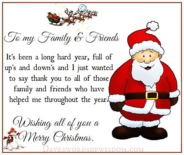 A Christmas Prayer For Family U0026 Friends. May All My Family Members And  Friends Who