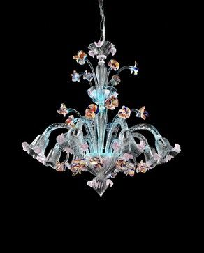 Light blue led murano glass chandelier carnevale eclectic light blue led murano glass chandelier carnevale eclectic chandeliers aloadofball Gallery