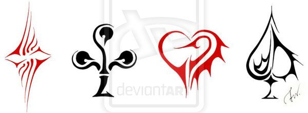 Playing Cards  Symbols By ShadesofdreamsDeviantartCom On
