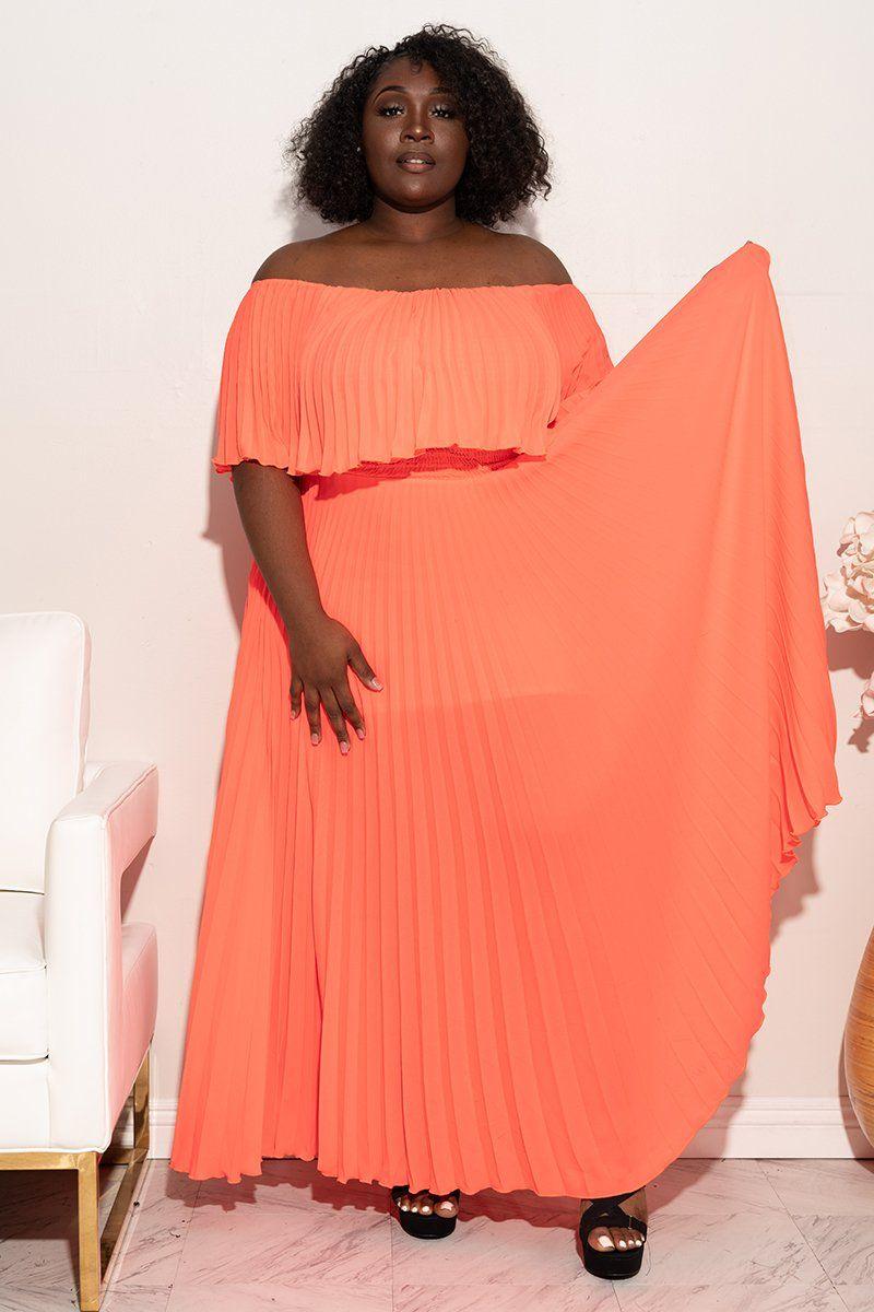 Plus Size In 2021 Plus Size Party Dresses Plus Size Summer Dresses Shoulder Maxi Dress [ 1200 x 800 Pixel ]