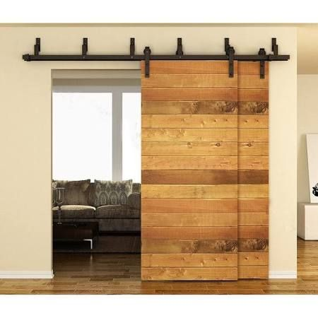 Stacked Sliding Closet Doors For Hallway Closet Organize