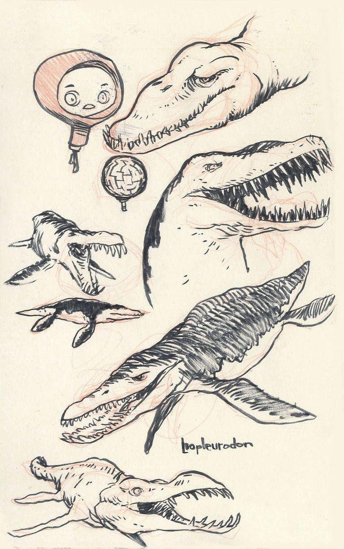 Liopleurodon 01 By Jakeparker On Deviantart Dinosaur Drawing Animal Drawings Dinosaur Art