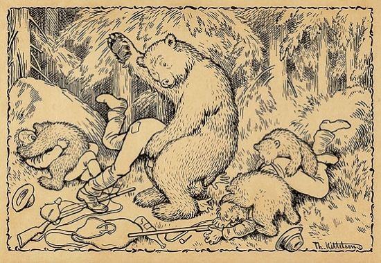 Theodor Kittelsen-En uheldig bjørnejakt - Hunting - Wikipedia, the free encyclopedia