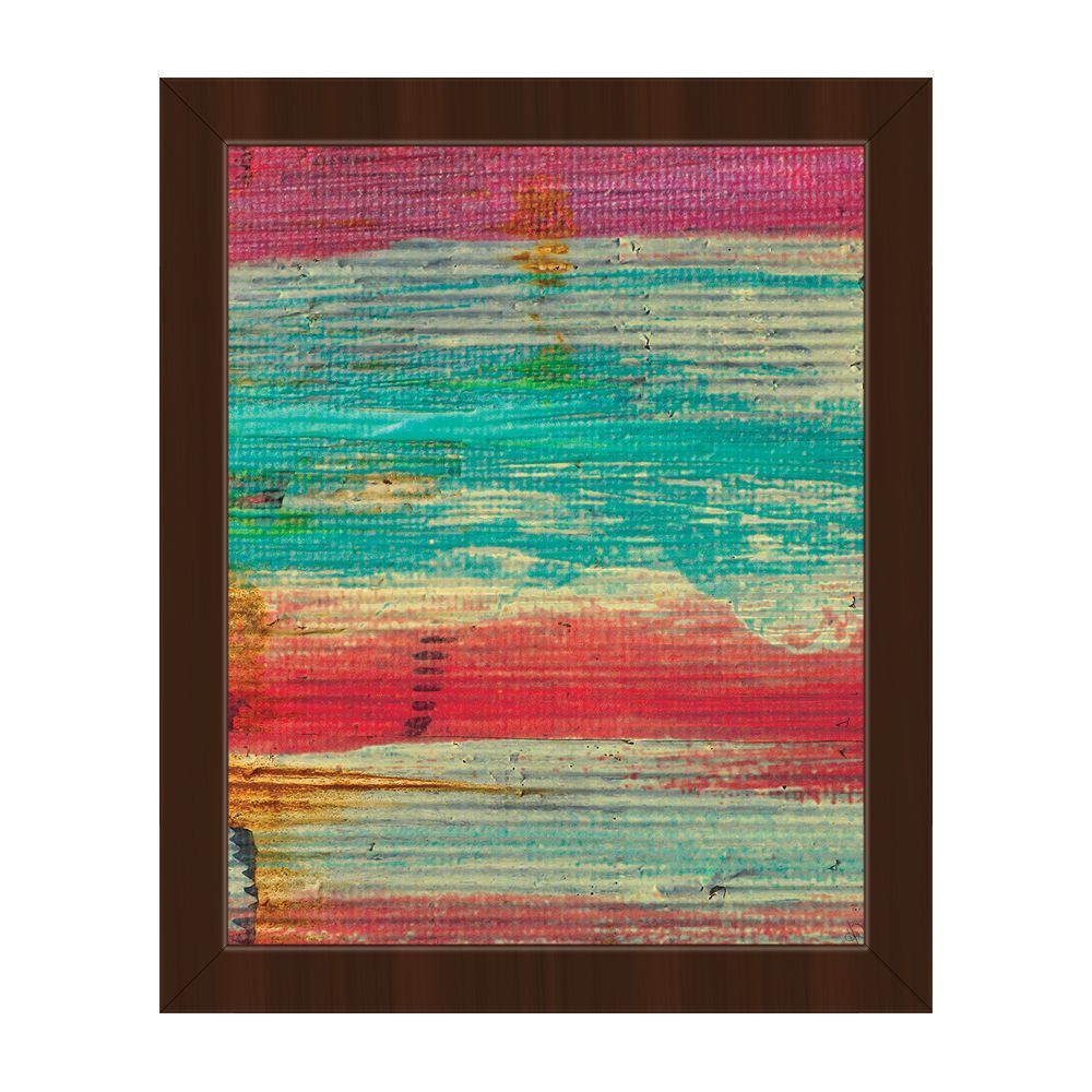 Horizon 'No Stopping Time' Framed Canvas Wall Art