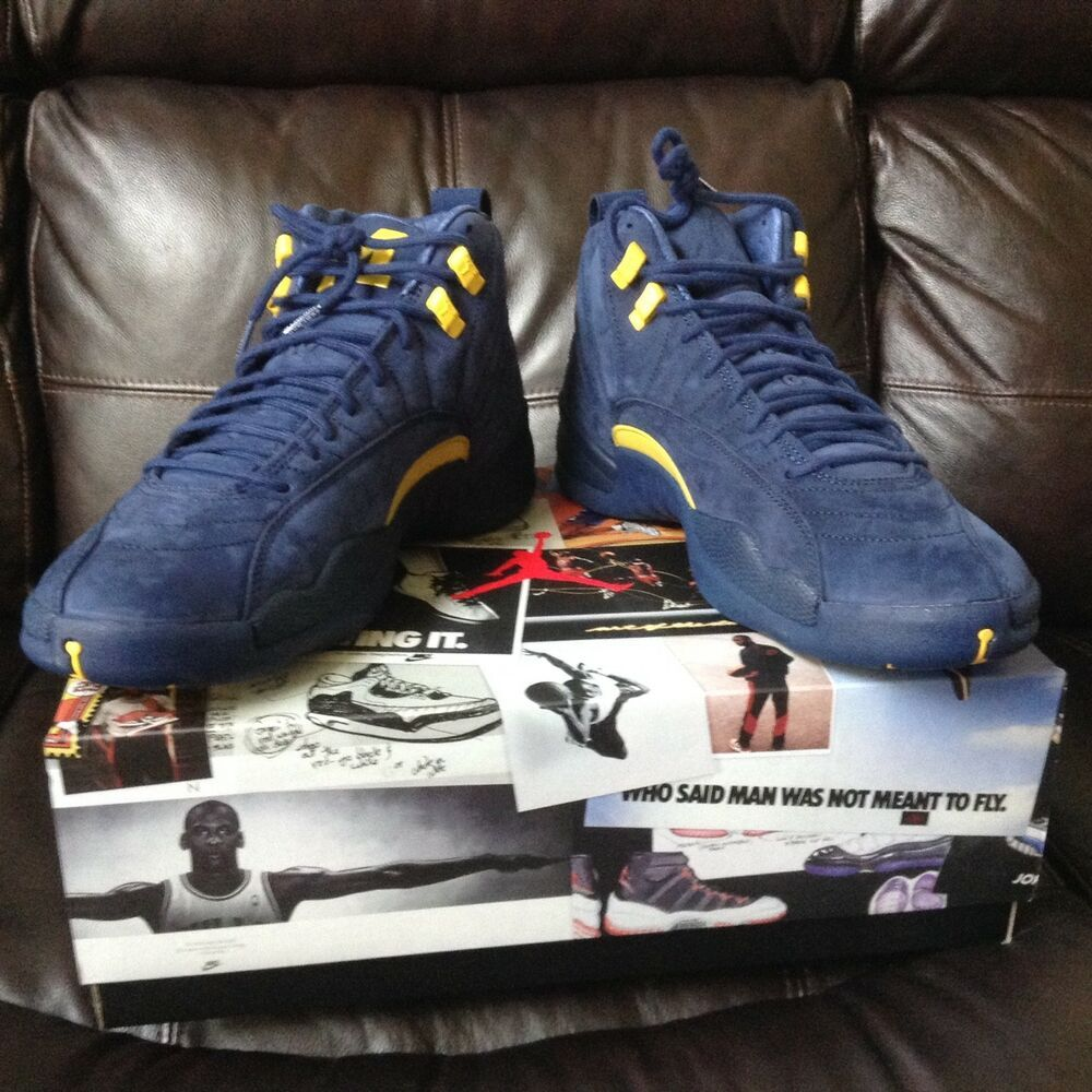 new products 8fde9 7cce1 NEW AUTHENTIC AIR JORDAN 12 XII RETRO NIKE SHOE MICHIGAN SIZE 11 BQ3180-407