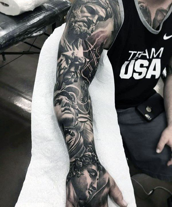 70 Unique Sleeve Tattoos For Men - Aesthetic Ink Design Ideas ...
