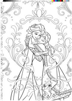 coloriage adulte la reine des neiges