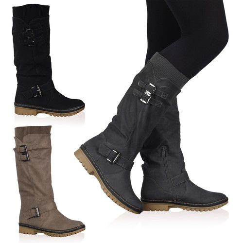 4Y WOMENS CALF LENGTH HIGH LADIES LINED GRIP SOLE WINTER BOOTS SHOES SIZE 3-8