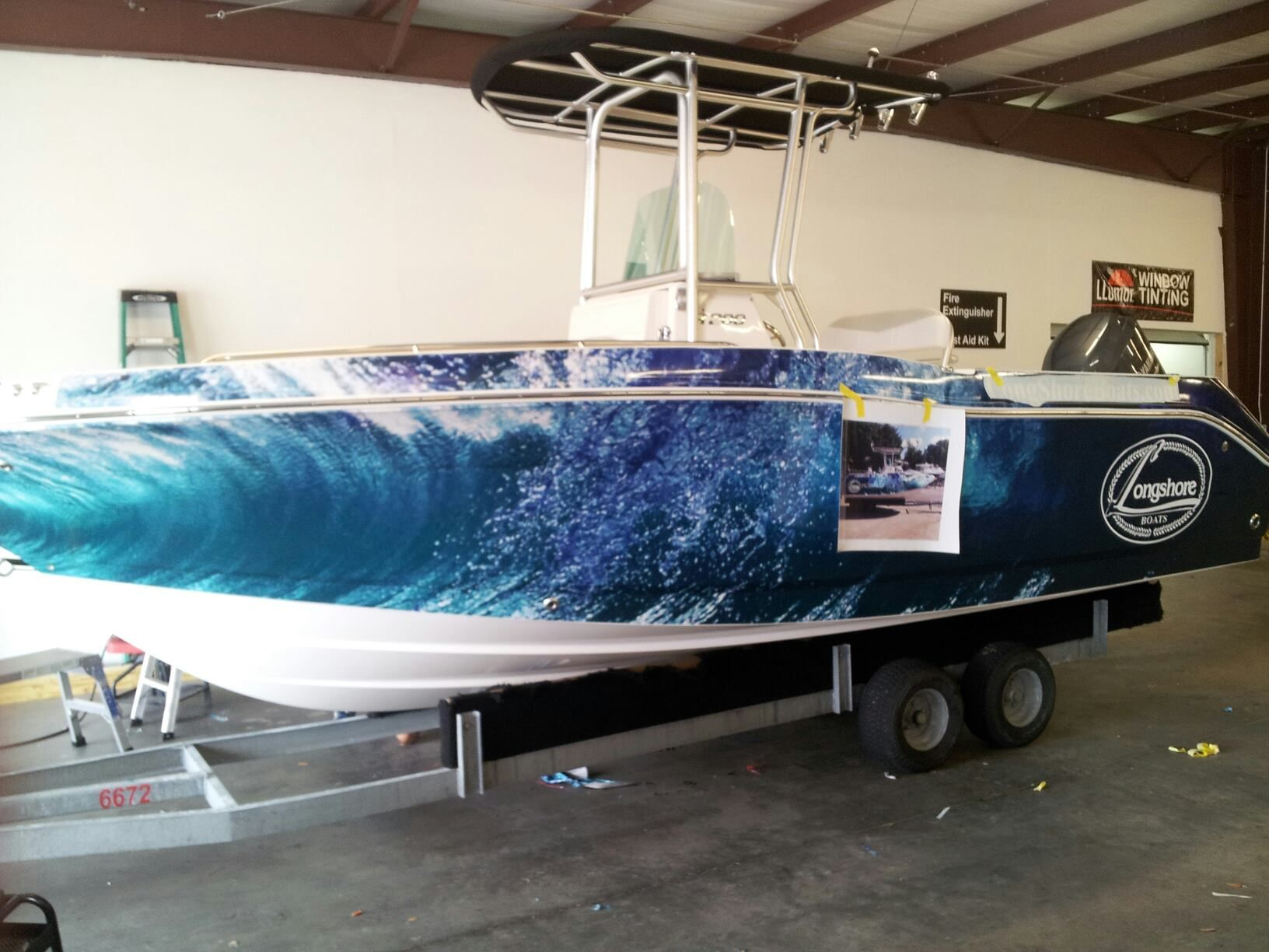 Longshore Robalo Boat Wrap In Progress By Pleasant Details CAR - Sporting boat decalsbest boat wraps custom vinyl images on pinterest boat wraps
