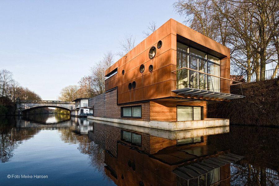 hausboote hamburg hausboot freischwimmer tun architektur hausboote pinterest floating. Black Bedroom Furniture Sets. Home Design Ideas